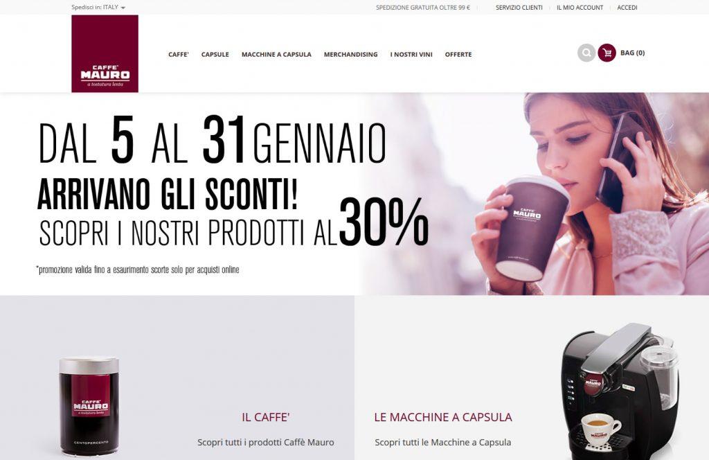0637b756f32d Kynetos e-Commerce ha realizzato il progetto e-Commerce di Caffè Mauro e lo  gestisce in full oustourcing occupandosi di logistica
